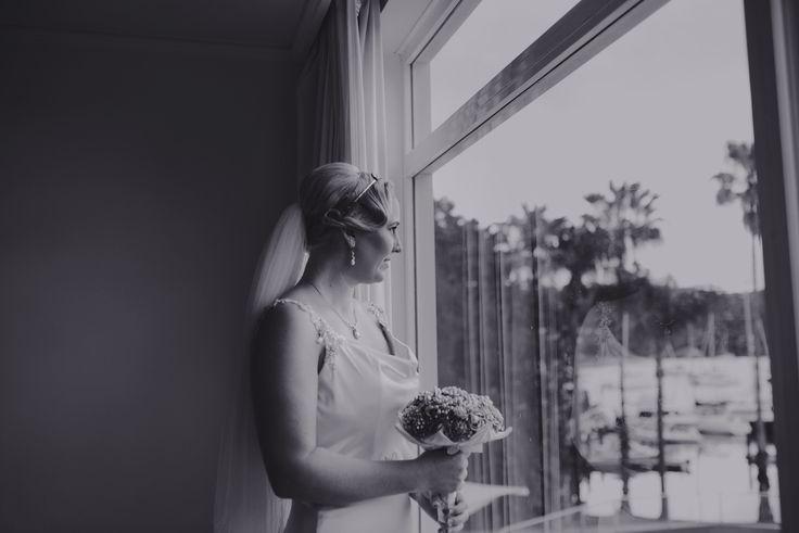 Mel before the wedding ceremony