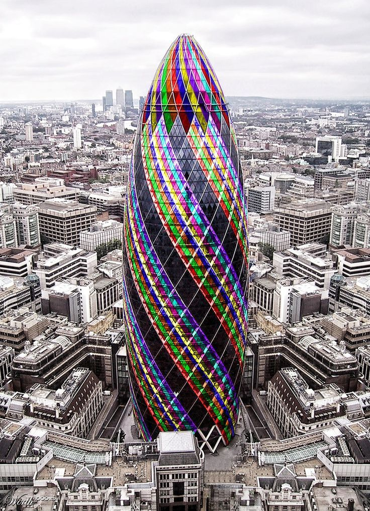 "30 St Mary Axe is also known as ""Gherkin"" and ""Swiss Re Building"", is a 40-storey building with a height of 180metres tall."