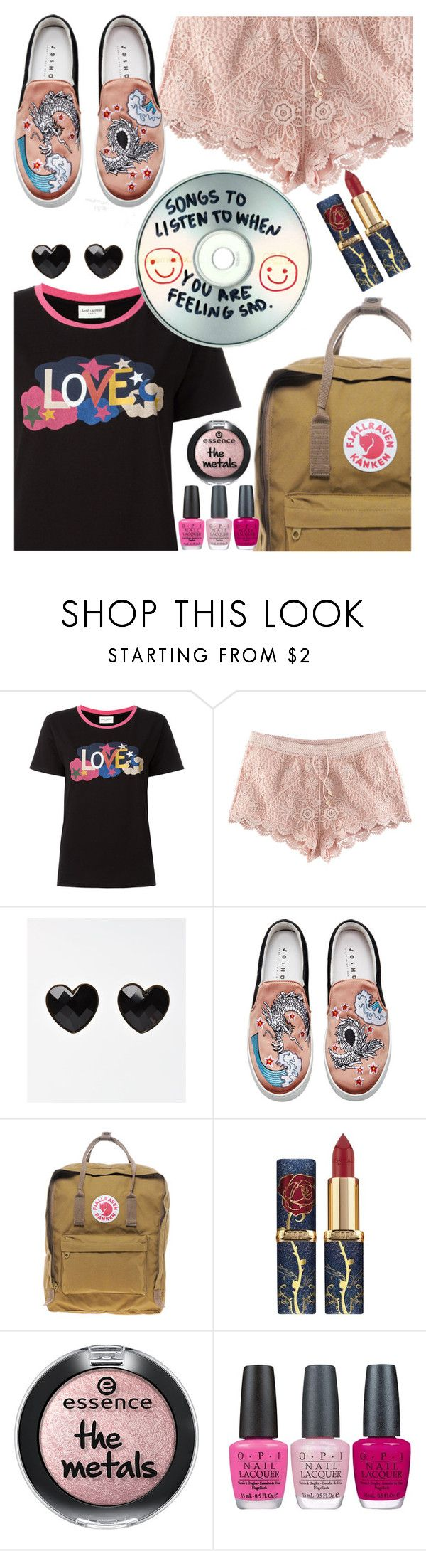 """""""its a Mix!"""" by elliewriter ❤ liked on Polyvore featuring Yves Saint Laurent, H&M, Joshua's, Fjällräven, OPI and ItsAmix"""