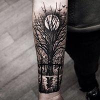 tree tattoo arm