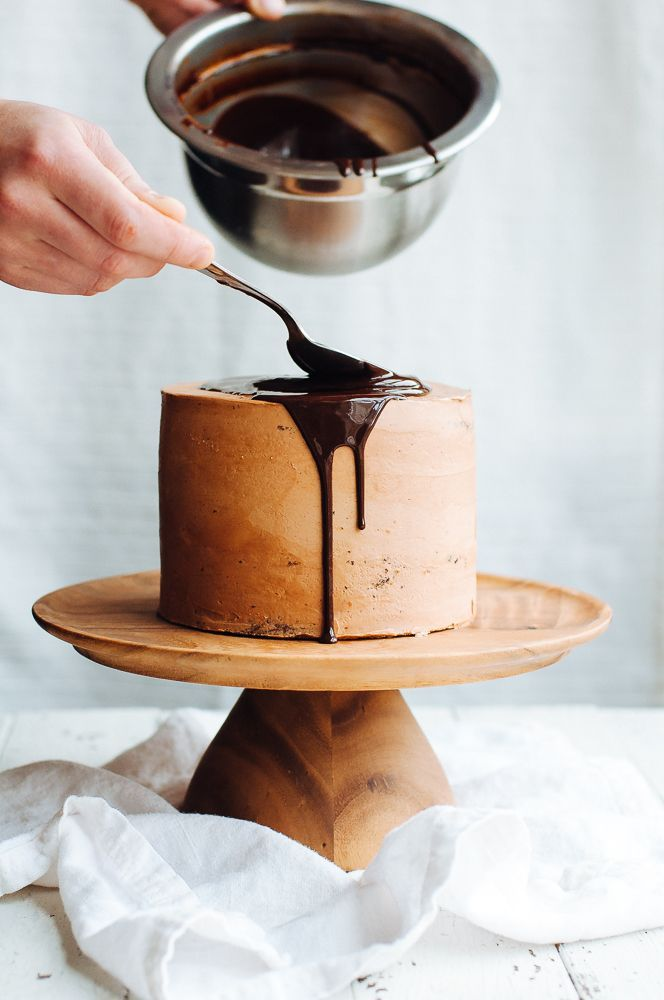Dark Chocolate, Passion Fruit, and Hazelnut Layer Cake | Hint of Vanilla