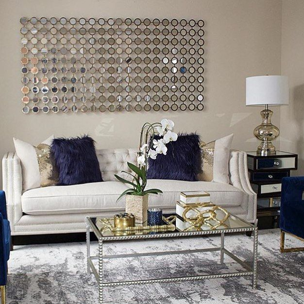 Livingroom Blue Vibes Gold Silver Interiors Staging Home Homesweethome Homeinterior Art Picoftheday Realestate Lux Home Decor Decor Interior