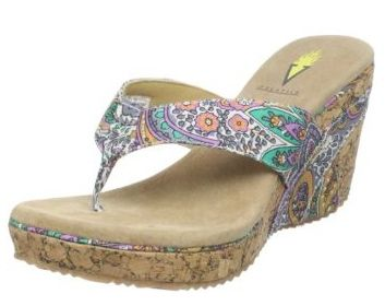 5 Best Wedge Flip Flop Styles: Volatile 'Marshmallow' - Wedge Flip Flops with Print Uppers