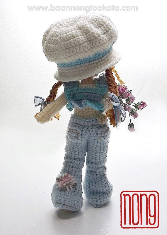 Sarah Crochet Doll Pattern Design by nong by baannongtookata