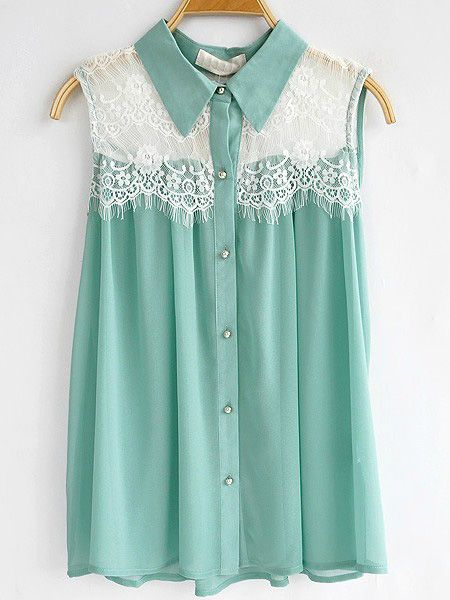 Lace collar and mint