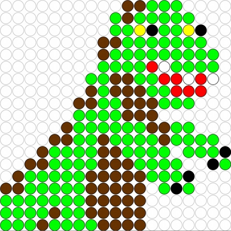 Kralenplank: Dino 4