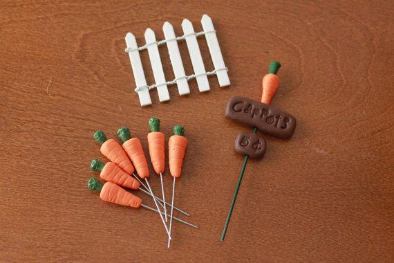 Polymer Clay Carrot Garden Terrarium Accessory by GnomeWoods