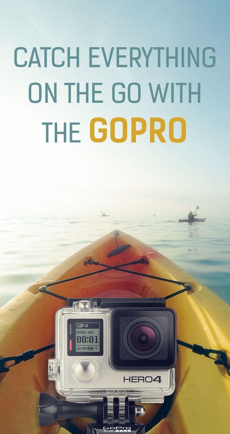 Catch everything on the go with the GoPro. Your favorite portable companion while outdoors. Always catch the perfect moment.