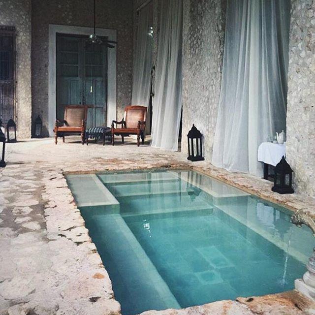 Unusual swimming pool setting via @CoquiCoqui @studiomondine