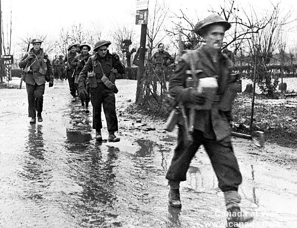 Canadians in Italy - Canadian soldiers in Italy, January 1945.
