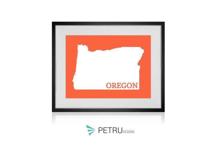 Oregon print - Oregon art - Oregon poster - Oregon wall art - Oregon printable poster - Oregon map - Oregon Sunset art - Instant download by Exit8Creatives on Etsy