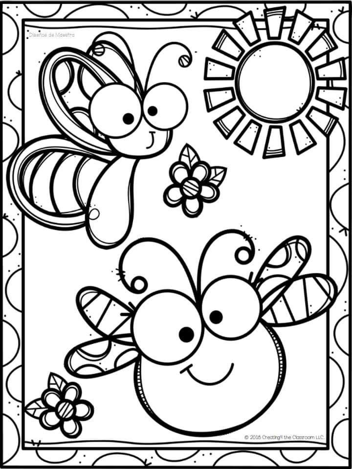 Animales Cute Coloring Pages Preschool Coloring Pages Kindergarten Coloring Pages