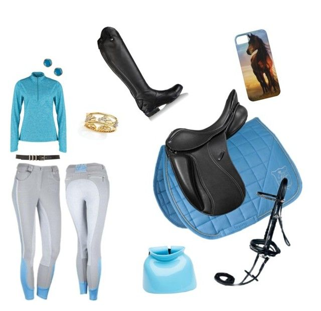 """""""Ice Cold Dressage"""" by justmelydz on Polyvore featuring NIKE, Maison Boinet, Argento Vivo, Roberto Coin and Ariat"""