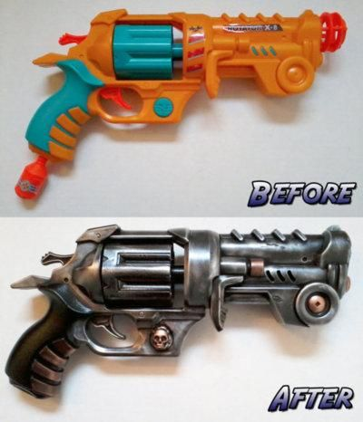 how to make a steampunk gun from a nerf gun