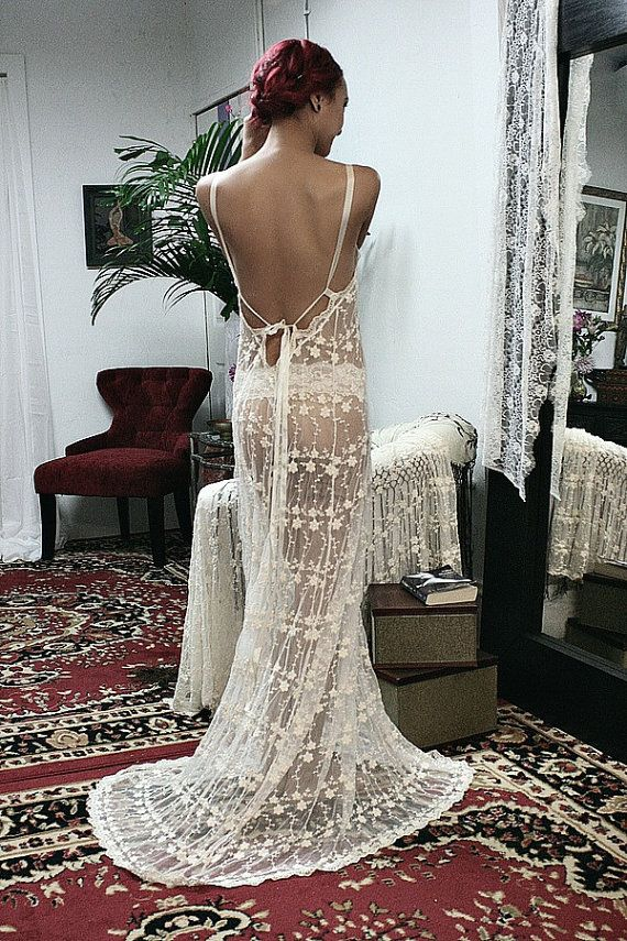 Hey, I found this really awesome Etsy listing at https://www.etsy.com/listing/176103053/backless-bridal-lace-nightgown-heirloom