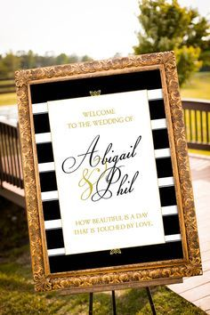 Gold Wedding Decor Black Party Navy And Sign Printable