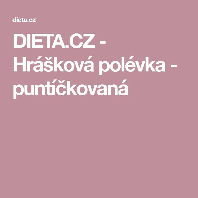 DIETA.CZ - Hrášková polévka - puntíčkovaná