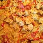 Risotto de veau au safran et poivron rouge