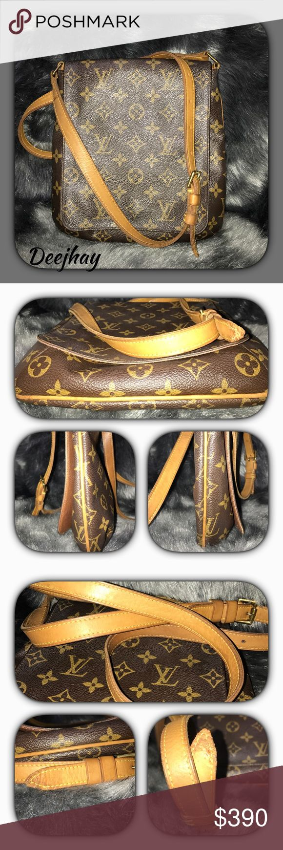 Louis Vuitton salsa musette long strap ~date code LM003                                    ~outside monogram is in good condition.                                                     ~no exposed piping.                                  ~strap show sign of wear. End of strap has my baby bite in it.                               ~inside has some pen mark. Louis Vuitton Bags Crossbody Bags