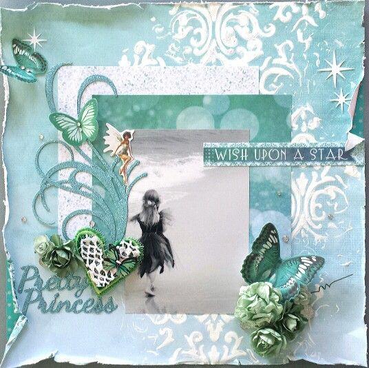 Kaisercraft : Fairy Dust collection : Pretty Princess layout by Amanda Baldwin