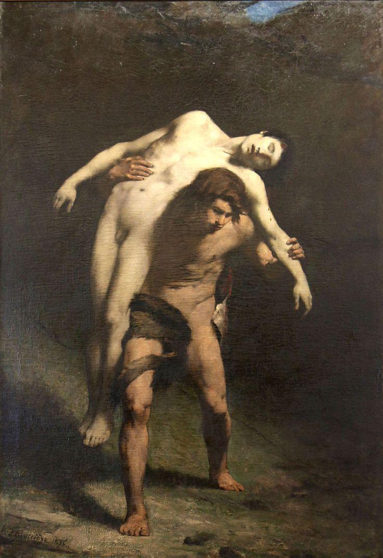"""Alexandre Falguière- """"Caïn et Abel""""  oil on canvas Musée des beaux-arts de Carcassonne"""