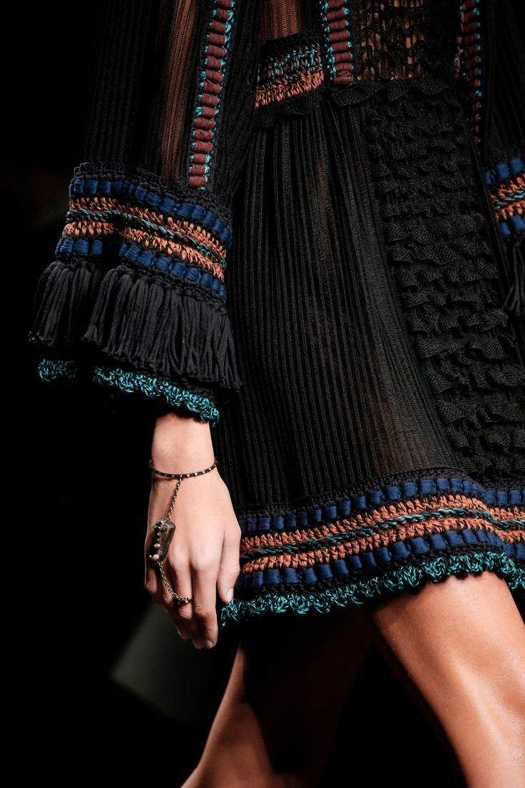 Textural details. Valentino Spring 2016 Ready-to-Wear Fashion Show Details