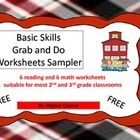 I just posted this FREEBIE!  This freebie has 6 reading and 6 math worksheets straight out of the Basic Skills Grab and Do Worksheets Sets 1-3.  Use these worksheets as review,...