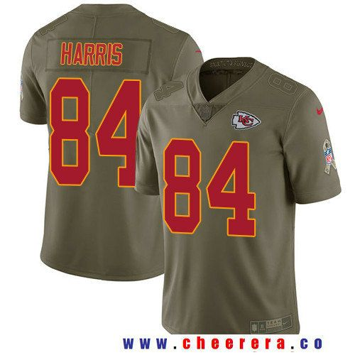 Men's Kansas City Chiefs #84 Demetrius Harris Olive 2017 Salute To Service Stitched NFL Nike Limited Jersey