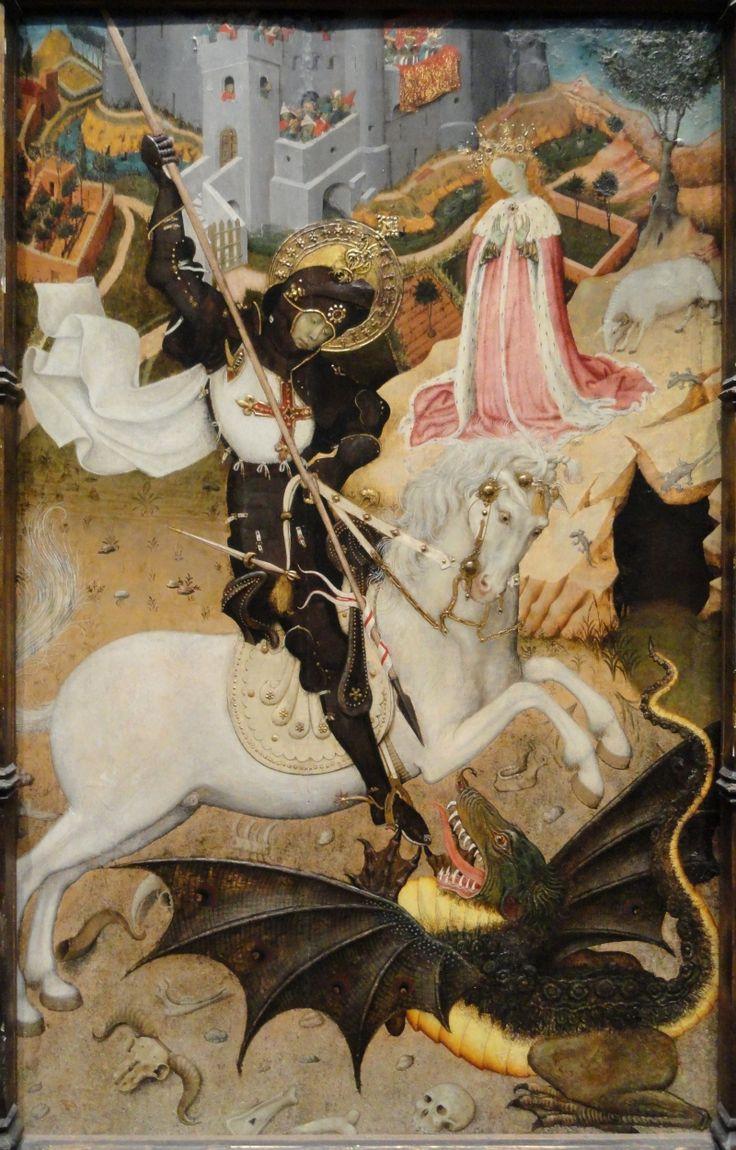 Bernat Martorell, 1434 or 1435, St. George slaying a dragon