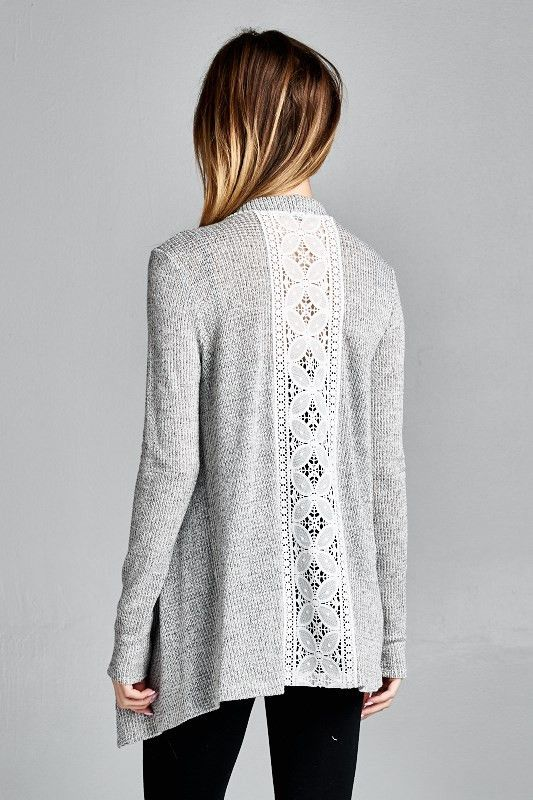 Lucy Lace Open Cardigan