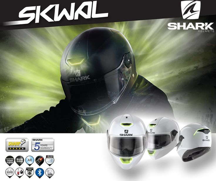 SHARK | Capacete SKWAL || Primeiro capacete com sistema LED no mercado português! Já tem o seu? Não perca tempo! Compre o seu a partir de 234€ (IVA incluído). Pode também optar pelo Capacete D-SKWAL sem sistema LED, a partir de 193€ (IVA incluído). Qualquer que seja a sua escolha - escolha sempre a sua segurança! #lusomotos #shark #skwal #dskwal #led #capacete #estilodevida #andardemoto #pinlock #homologação #isolamento #segurança #confiança #inovação #qualidade