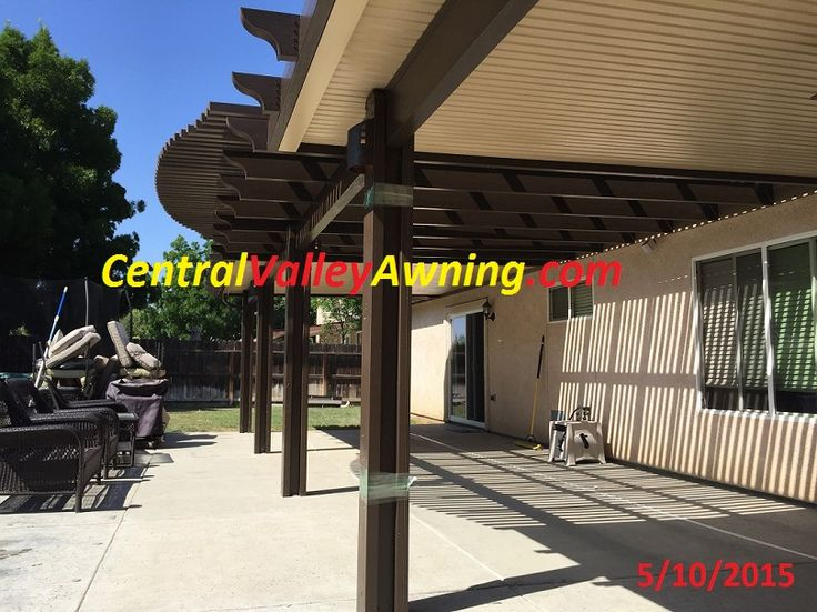 Combo Style Aluminum Patio Cover  Part Solid, Part Open Lattice. Available  In San