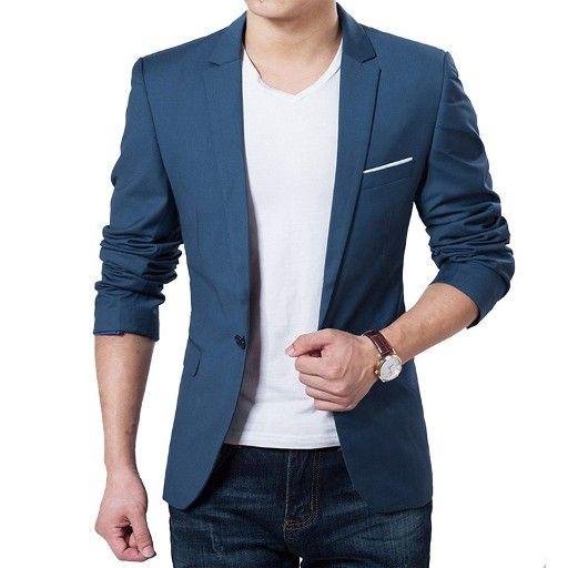 Model blazer pria terbaru dengan desain khas korea yang trendy dan keren