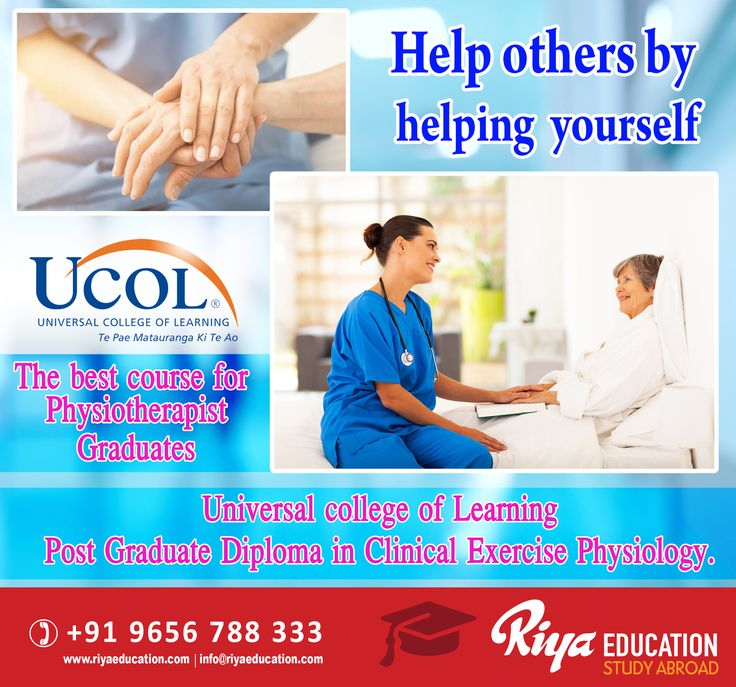 Help others by helping yourself. Universal college of Learning Post Graduate Diploma in Clinical Exercise Physiology. Get in touch with Riya Education for more details on study abroad programs. Visit our website http://www.riyaeducation.com/