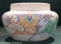Dutch plateel rose vase
