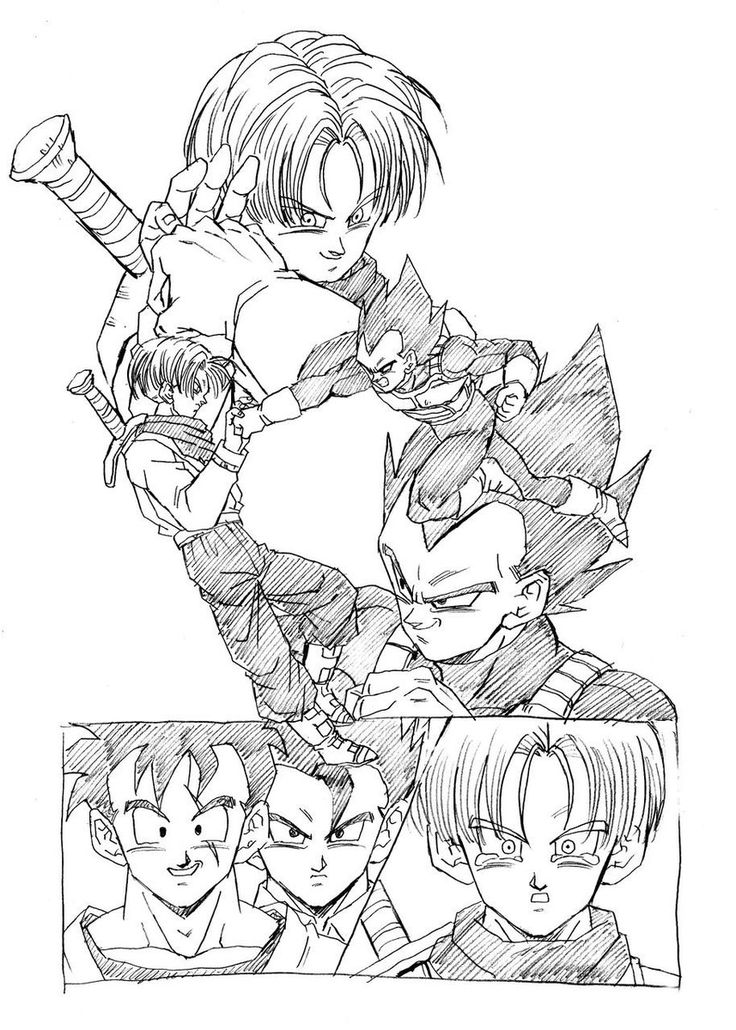 """Farewell Trunks! We'll always be in your heart!"" Drawn by: Young Jijii. Found by: #SonGokuKakarot"