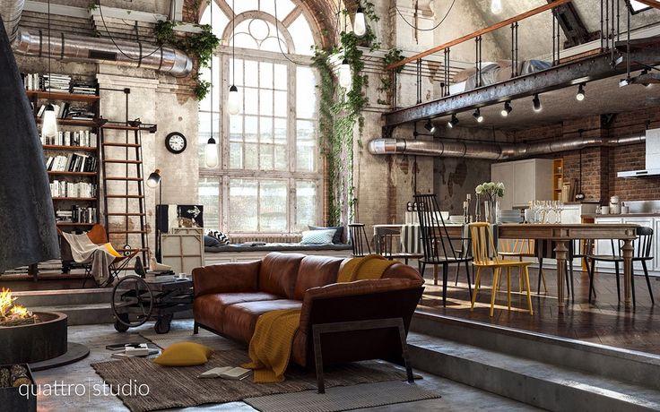 Depois dos belas de decorações de filmes que vimos hoje mais cedo, agora veremos lofts como nos filmes.                   Pilastras       L...