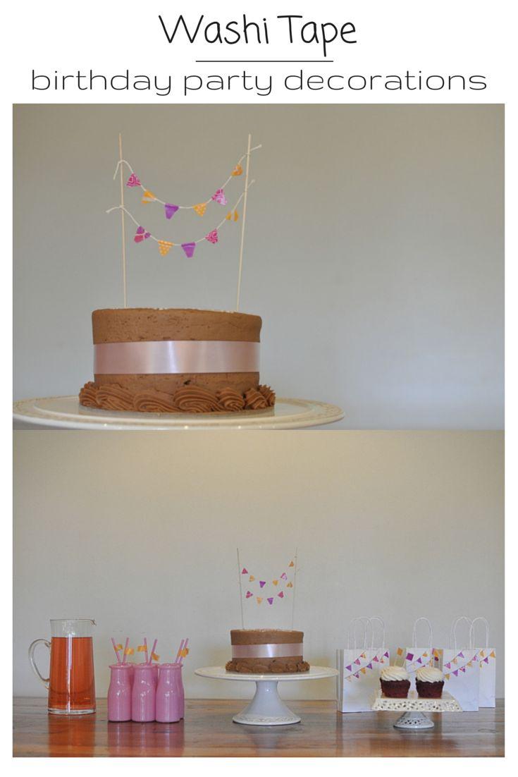 Washi Tape Birthday Party Decoration Ideas. #sponsored #3M #washitape