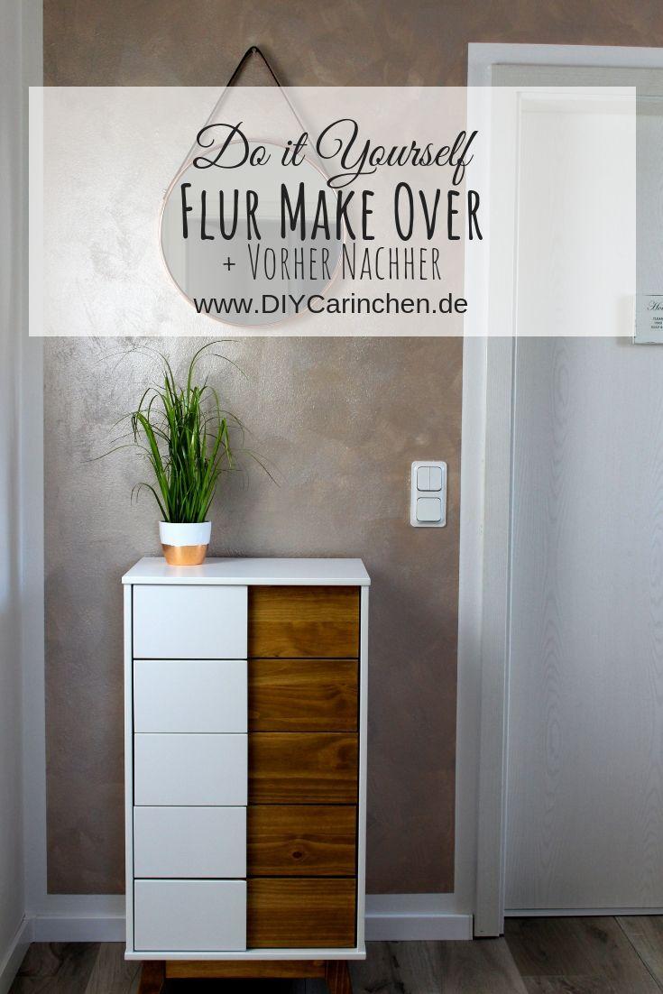 Diy Flur Make Over Inklusive Vorher Nachher Streich Tipps Haus Deko Schoner Wohnen Wandfarbe Wandfarbe Weiss