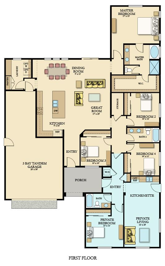 The conestoga sq ft with bedrooms bathrooms