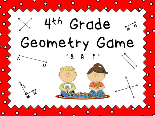 The powerpoint game is just like Jeopardy. Click on a question and students answer it correctly to get the points. This game caters to 4th grade geometry.  Questions include identifying lines, angles, and symmetry.  Students will love it. Great for a review before a test!