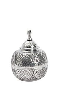 METAL EMBOSSED GINGER JAR