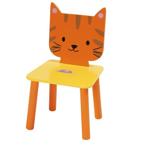 Oranje katten stoel #kinderkamer | Kitty chair #kidsroom