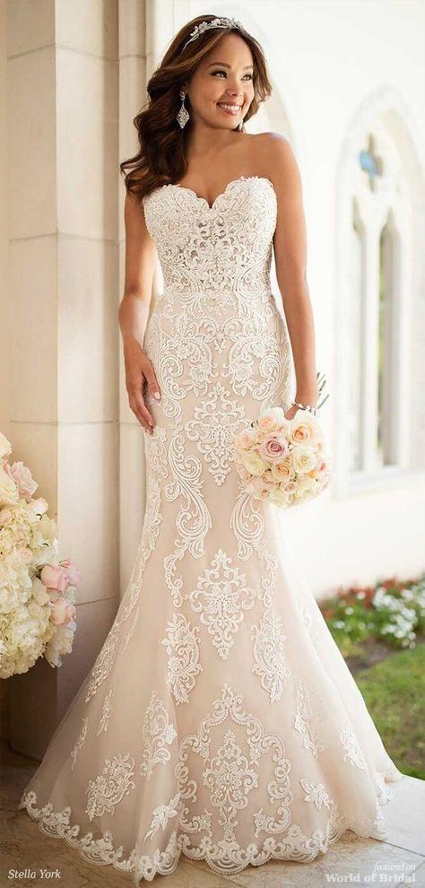 3c63ea48802 Stella York Spring 2018 Elegant Lace Wedding Dress