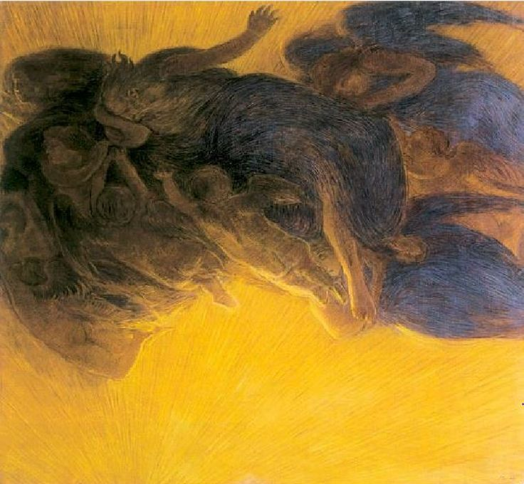 The Creation of LIght by Gaetano Previati, 1913