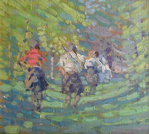 Lionel LeMoine Fitzgerald, 'Figures in a Park' at Mayberry Fine Art