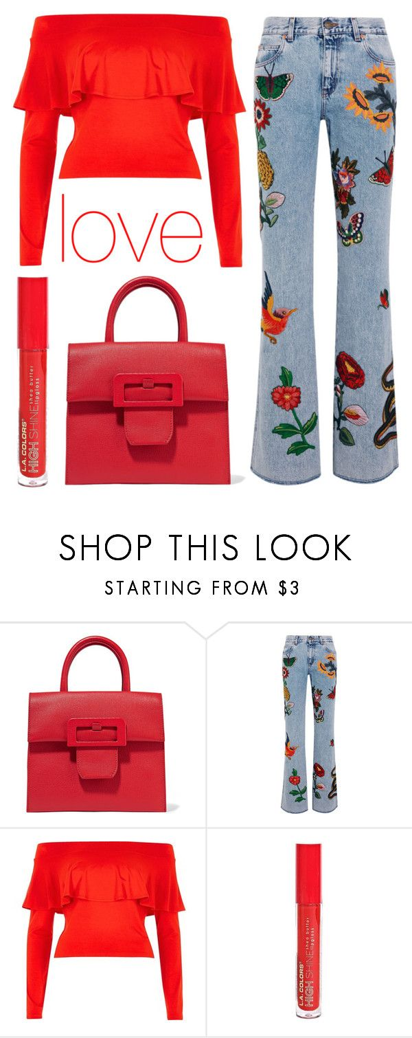 """""""casual Sunday"""" by j-n-a ❤ liked on Polyvore featuring Maison Margiela, Gucci, River Island and L.A. Colors"""