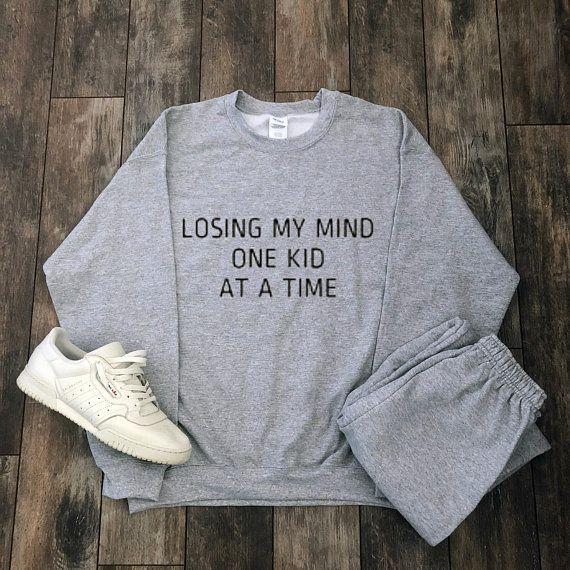 Mijn kind verliezen Eén kind tegelijk Sweatshirt – (SUPER SOFT BLEND) – Cadeau voor moeder …