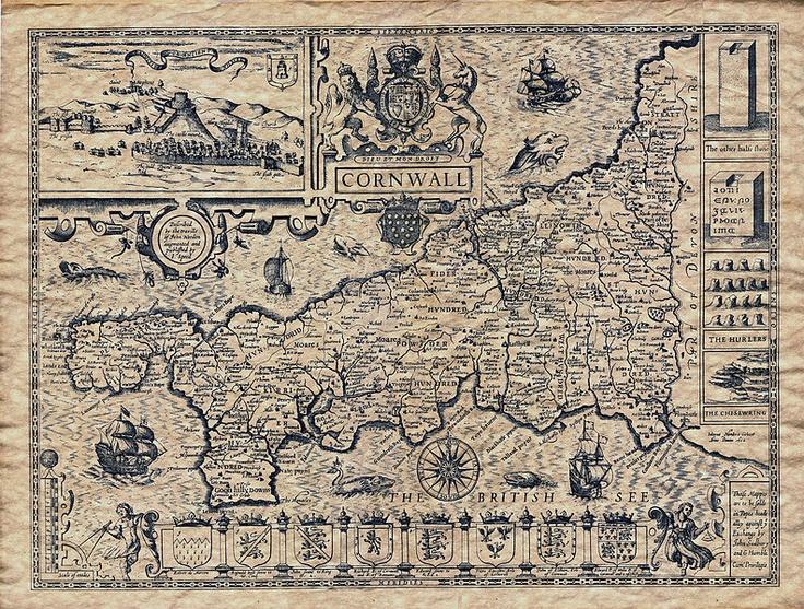 Old Map of Cornwall c.1610.jpg #map #cornwall #uk