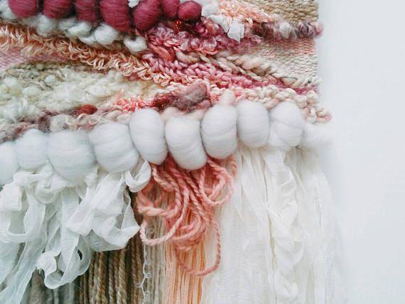 Wallflower Weavings 'Francesca' - hand woven, handmade, woven details, organic artwork